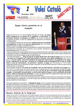 1 - Federació Catalana de Voleibol