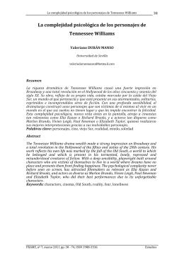 La complejidad psicológica de los personajes de Tennessee Williams