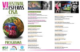 Programa VI Festival de Esferas