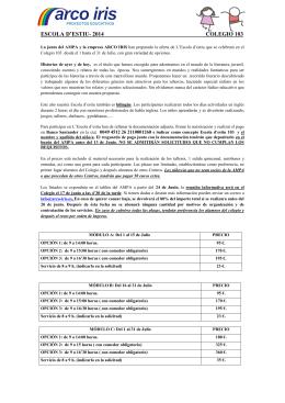ESCOLA D`ESTIU- 2014 COLEGIO 103