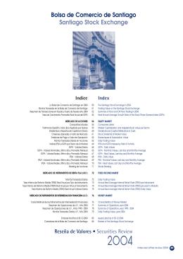 Reseña de Valores 2004 - Bolsa de Comercio de Santiago