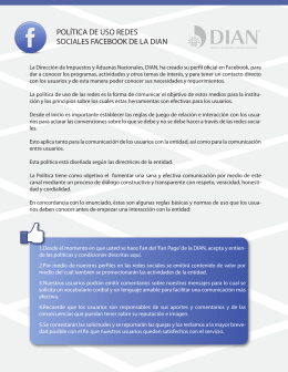 POLÍTICA DE USO REDES SOCIALES FACEBOOK DE LA DIAN