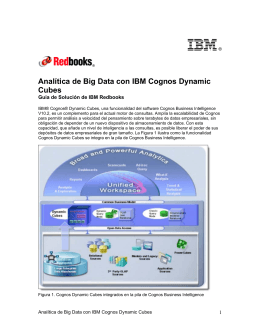 Analítica de Big Data con IBM Cognos Dynamic Cubes
