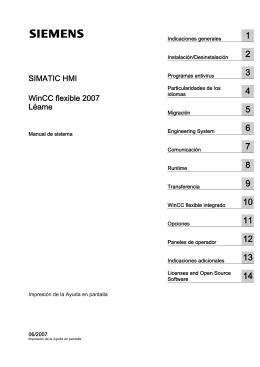 SIMATIC HMI WinCClexible 2007 Léame