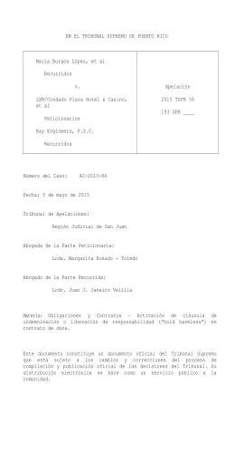 2015 TSPR 56 - Rama Judicial