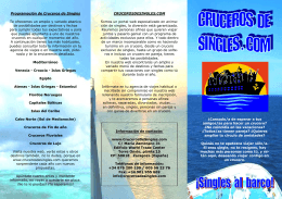 tríptico de Cruceros de Singles