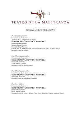 descargar información - Teatro de la Maestranza