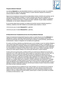 Proyecto Zeitson® Diamond Los sistemas