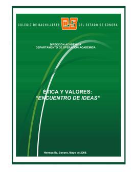 """ética y valores: """"encuentro de ideas"""" - Manual del Castellano"""