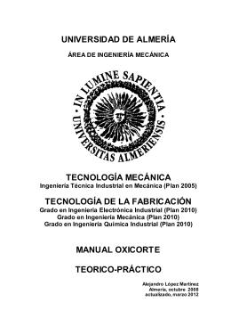 MANUAL OXICORTE 2012 - Universidad de Almería