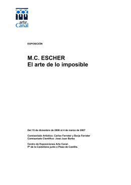M.C. ESCHER El arte de lo imposible