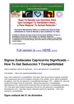 Signos Zodiacales Capricornio Significado -