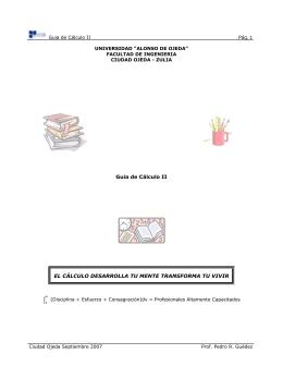 Guia de Cálculo II EL CÁLCULO DESARROLLA TU MENTE