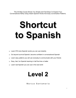 Level 2 - easy spanish