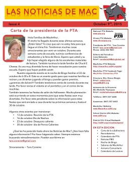 Noticias de Mac 10-9-2015 - MacArthur School