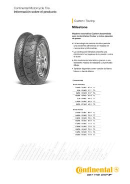 Milestone Continental Motorcycle Tire Información sobre el producto