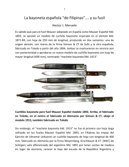"La bayoneta española ""de Filipinas""…."