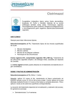 Clotrimazol - Pediamécum