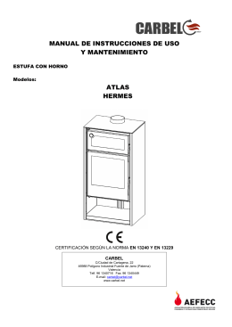 Manual horno HERMES y ATLAS