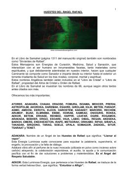 HUESTES DEL ÁNGEL RAFAEL - Centro de Estudios Angélicos