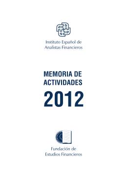 memoria de actividades 2012 - Fundación de Estudios Financieros