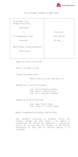2012 TSPR 66 - Rama Judicial