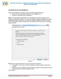 Configuración en Mozilla Thunderbird