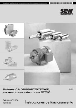 Motores CA DR/DV/DT/DTE/DVE, servomotores - SEW