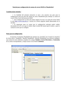 Tutorial para configuración de cuentas de correo IMAP en