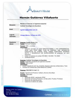 Hernán Gutiérrez Villafuerte - quality house división automotriz