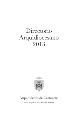 Directorio Arquidiocesano 2013