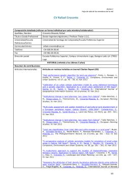 Rafael Crecente - Infraestructura de Datos Espaciales UDA