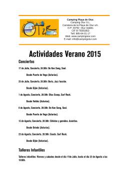 Actividades 2015