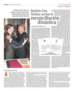 reconciliación dinástica - Real Casa di Borbone delle Due Sicilie