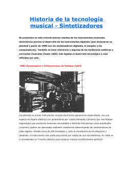 Historia de la tecnología musical - Sintetizadores