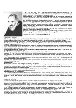 San Pío de Pietrelcina - San Francisco y los Franciscanos