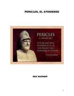 PERICLES, EL ATENIENSE - Biblioteca Digital Tamaulipas