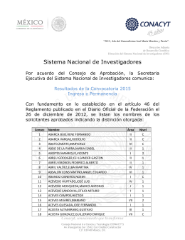 Participantes aprobados