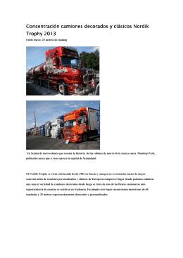 Concentración camiones decorados y clásicos Nordik Trophy 2013