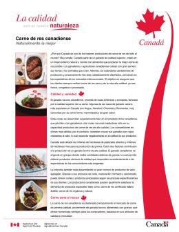 Carne de res canadiense