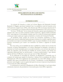 Reglamento Beca Municipal de Excelencia Académica