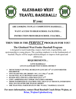 travel baseball! - St. Petronille School