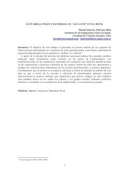 """1 GUITARRAS, POGO Y BANDERAS: EL """"AGUANTE` EN - iaspm-al"""