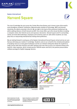 Harvard Square - Kaplan International English