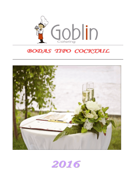 BODAS TIPO COCKTAIL
