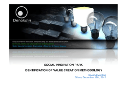 IDENTIFICATION OF VALUE CREATION METHODOLOGY