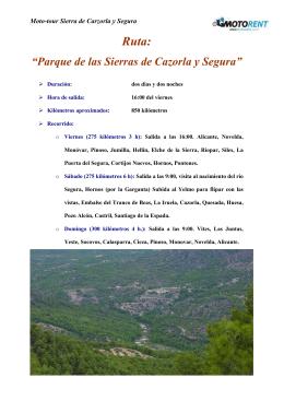 """""""Parque de las Sierras de Cazorla y Segura"""""""