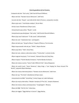 """Lista de ganadores de los Grammy -Grabación del año: """"Get Lucky"""
