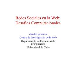 Redes Sociales en la Web: Desafíos Computacionales