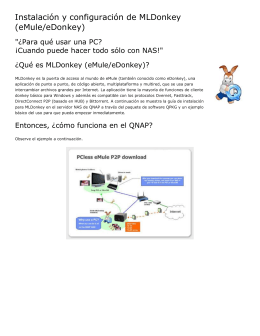 Instalación y configuración de MLDonkey (eMule/eDonkey)